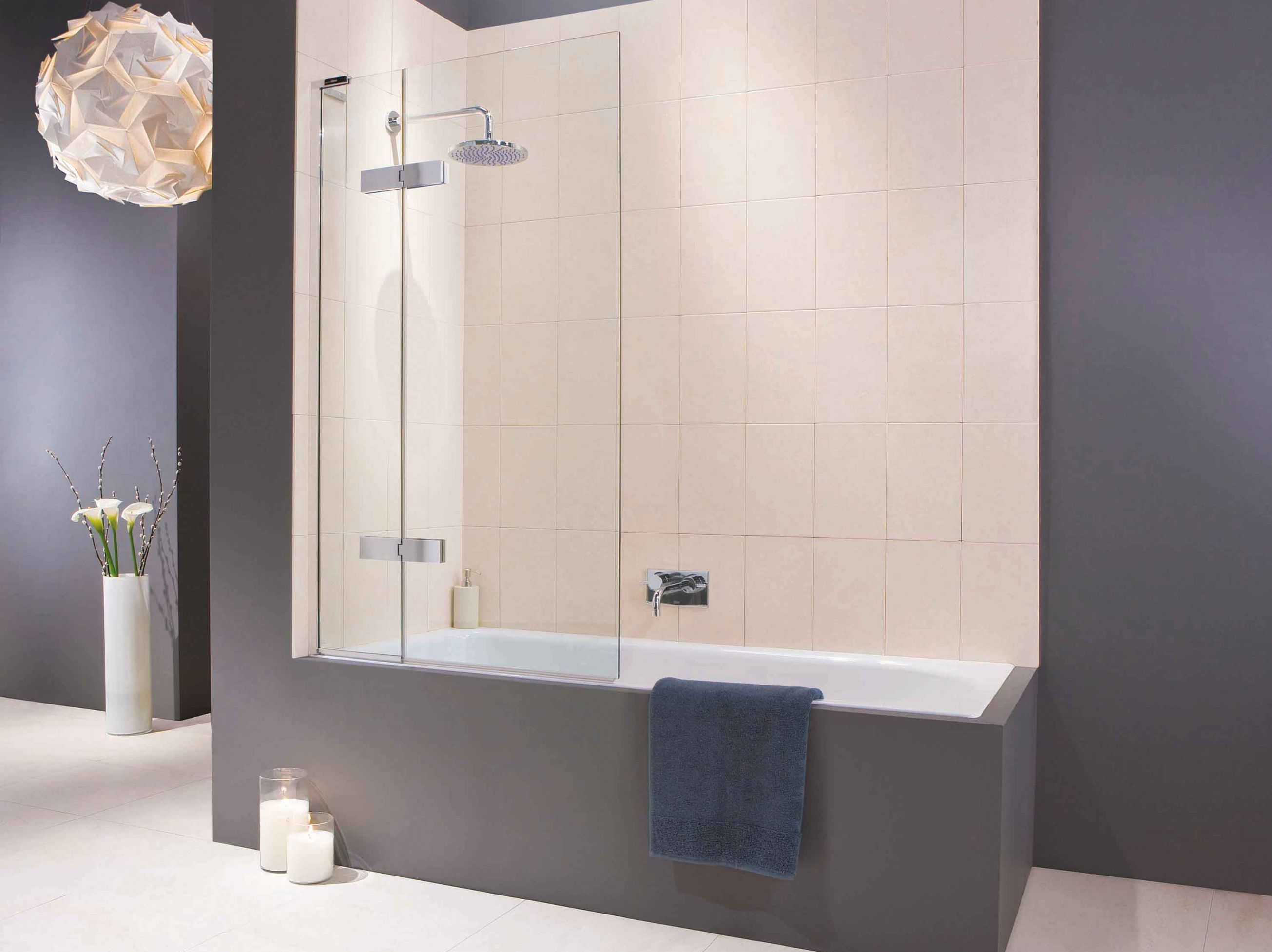 Eauzone Plus Two Panel Bath Screen Matki