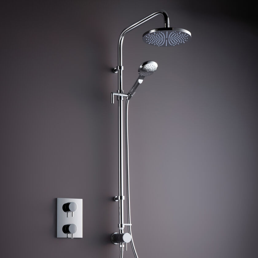 Elixir Classic Mixer With Deluge Shower Head Matki