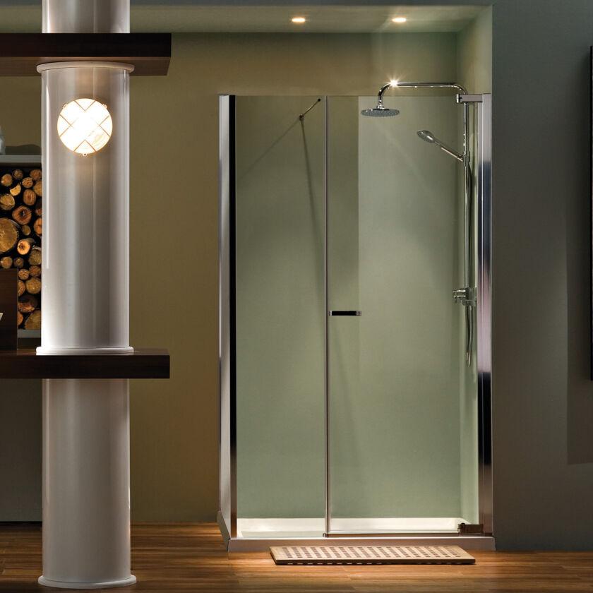 Radiance Straight Sliding Door With Slimline Shower Tray