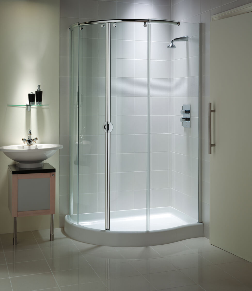 Mirage Curved Corner With Integrated Shower Tray Matki