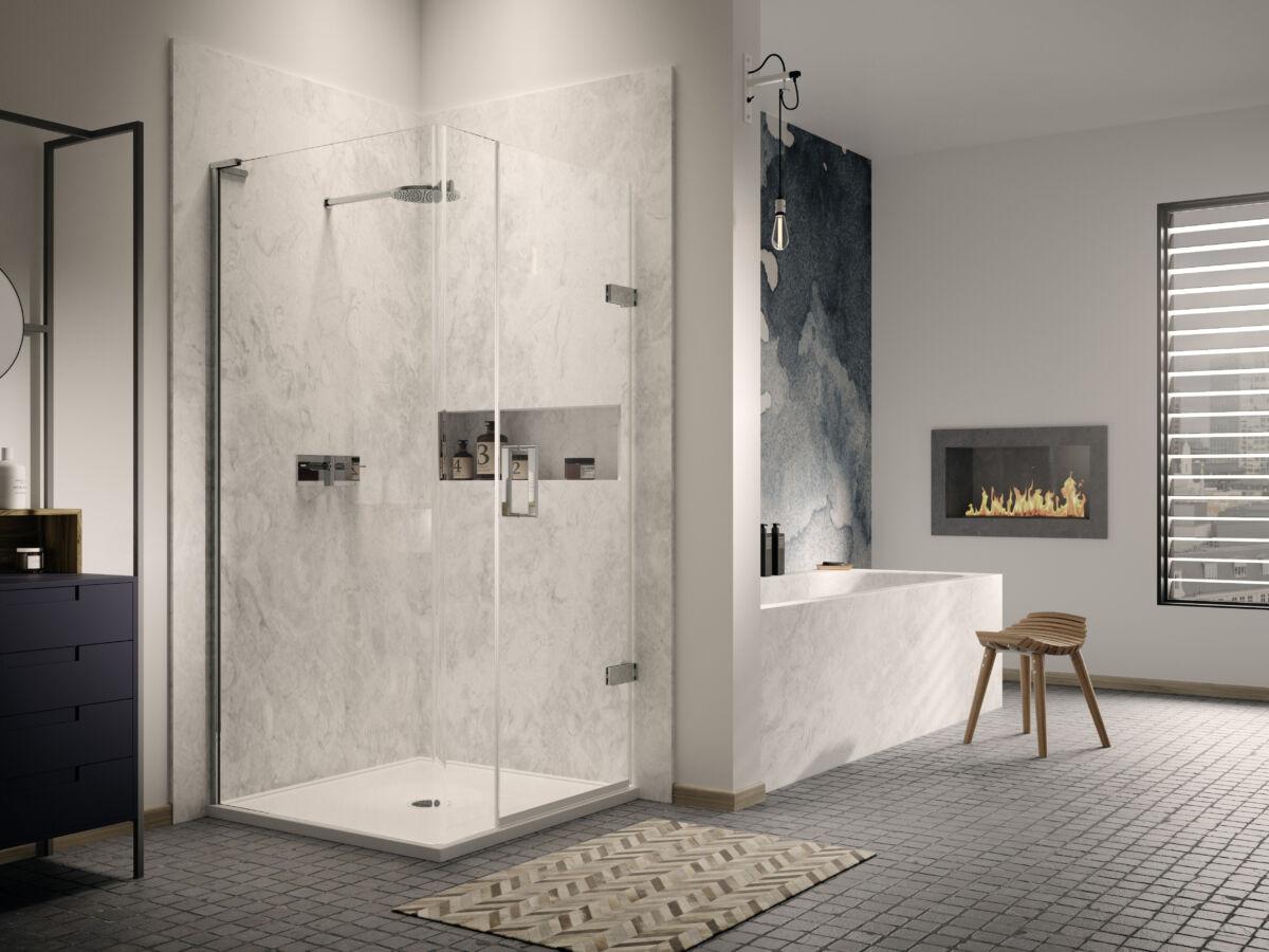 Eauzone Plus Radius 20 Wet Room Panel Matki